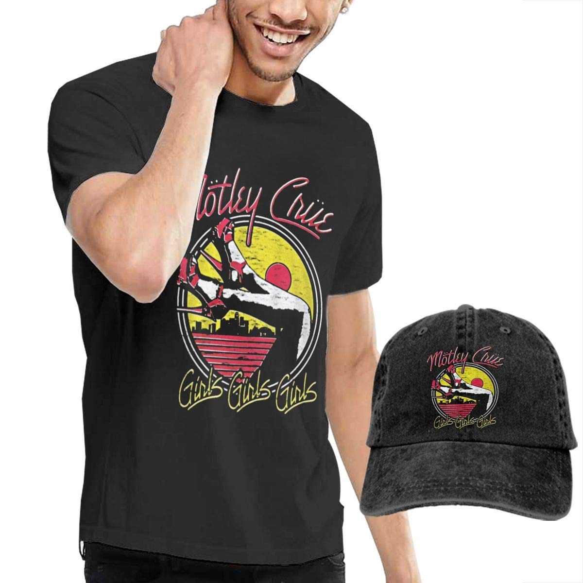 Hfusih.fhs6f789 Motley Crue Adult Cap Adjustable Cowboys Hats Baseball Cap M Black