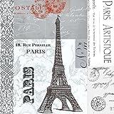 Paperproducts Design 5x5 Paris Cocktail/Beverage Paper Napkins - 6903
