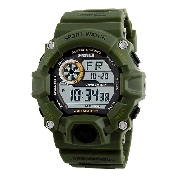 Gokelly Skmei 1019 Deportes al aire libre multifunción Luminoso relojes de buceo impermeable: Amazon.es: Relojes