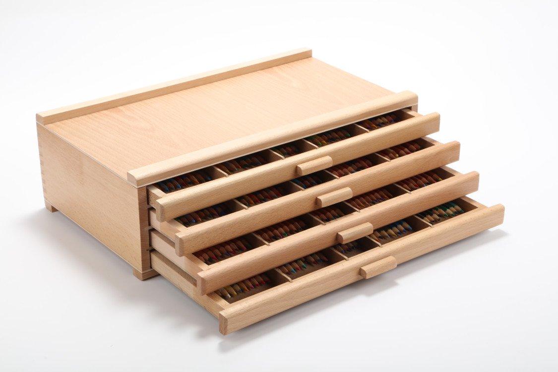 Vencer 4 Drawer Wood Art Storage Box Pencil, Pen, Pastel, Marker Set VAO-003 ... by Vencer