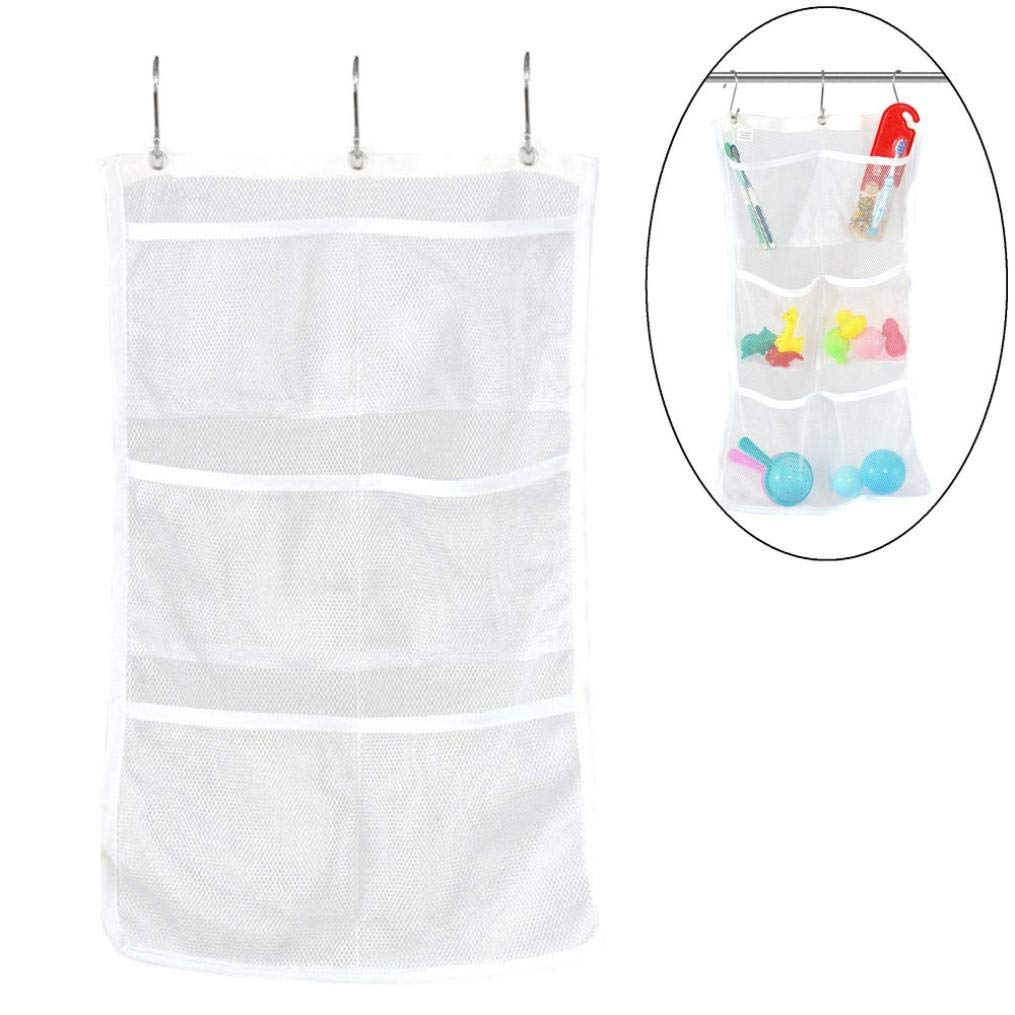 LiPing Bathroom Tub Shower Bath Hanging Mesh Organizer Toiletries Shower Gel Practical Type Non-Trace Stick Wall Bathroom Accessories Decorations (24.8×14in) by LiPing (Image #3)