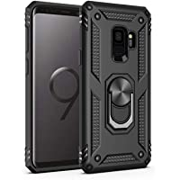 Samsung Galaxy S9 Case,Amuoc [ Military Grade ] 15ft. Drop Tested Protective Case | Kickstand | Compatible with Galaxy S9-Black
