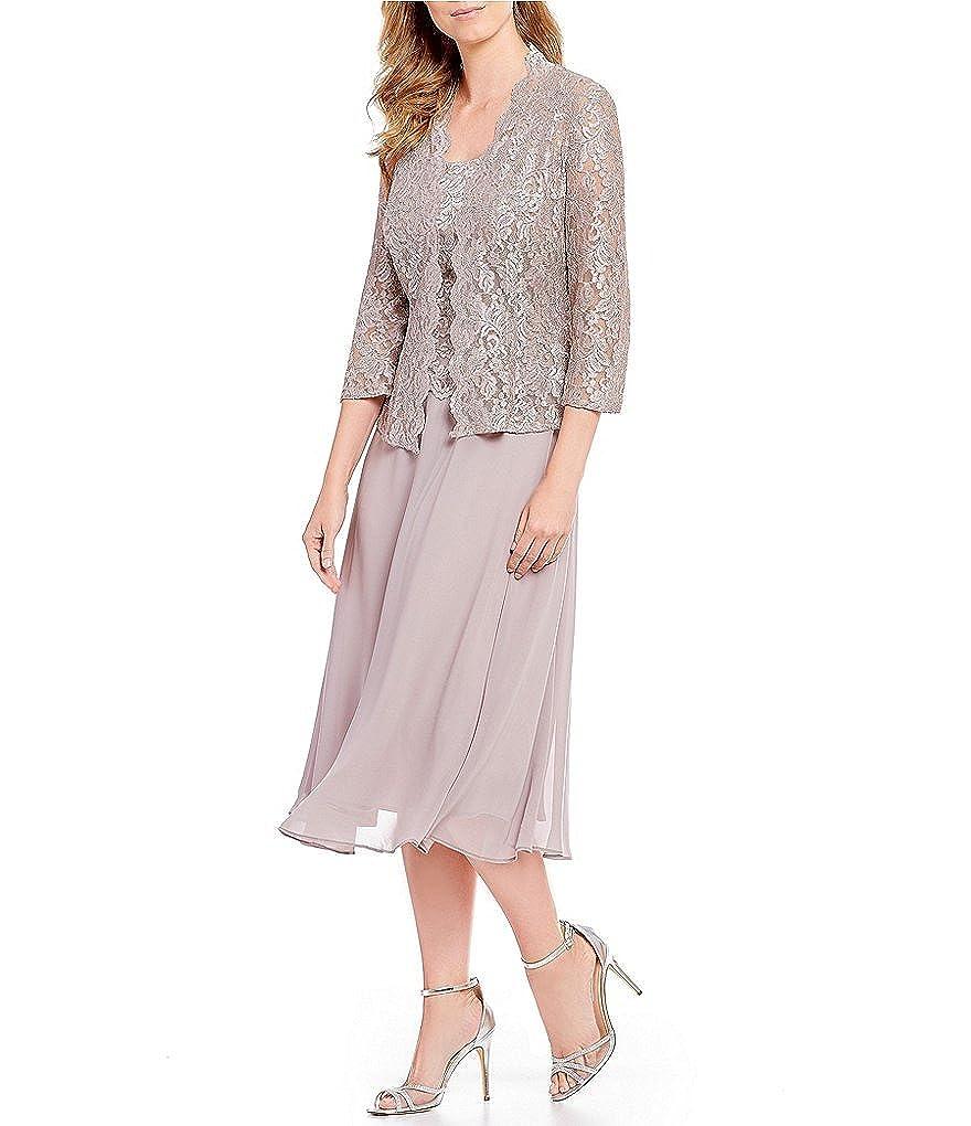 866390fd89 Alex Evenings Women s Tea Length Mock Jacket Dress (Petite and Regular  Sizes) at Amazon Women s Clothing store