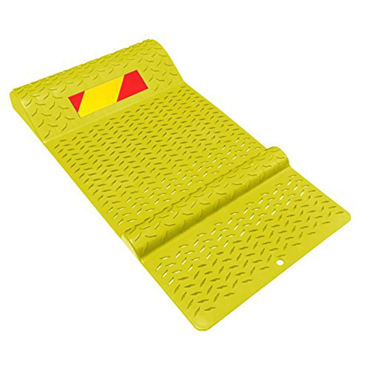 Electriduct Pack of 6 Pair of Plastic Park Right Parking Mat Guides for Garage Vehicles, Antiskid Car Safety - Yellow by Electriduct (Image #1)