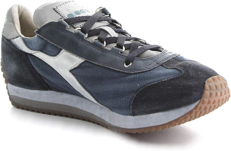 Diadora Heritage, Uomo, Equipe H Dirty Stone Wash Evo, PelleTela, Sneakers, Blu