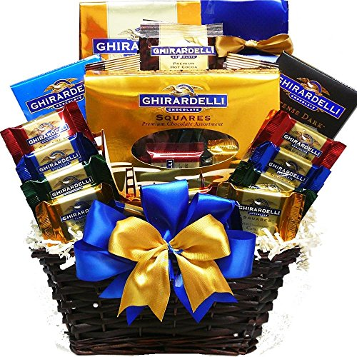 Ghirardelli Chocolate Lovers Gift Basket (Chocolate Basket Gift Lovers)
