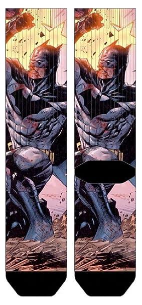 fb3976aaff Amazon.com  DC Comics Batman Action Pose Premium Sublimated Crew ...