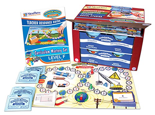 NewPath Learning 4 Piece Curriculum Mastery (ELA, Math & Science) Game Set, Grade 6, Class-Pack by New Path Learning