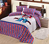 Judy Dre am Home Textile Cartoon Transformers Optimus Primal Children Bedding Set Cartoon Cotton Duvet Cover Sets for Boy Bed Sheets Qulit Cover Set 4-piece (1 Duvet Cover, 1 Flat Sheet, 2 Pillow Cases)