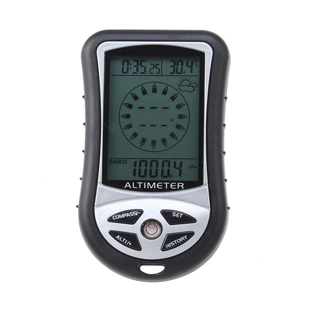 8 en 1 altimetro digital - TOOGOO(R)8 en 1 Funcion Digital LCD Compas Altimetro Barometro Termico Temperatura (Negro) SPHAGT67157