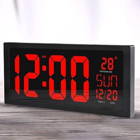Sunnyday Reloj de Pared electrónico de HD LED Reloj de Escritorio casero de la Sala de