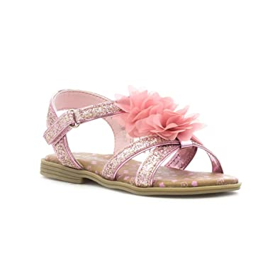 b10cb071f73b Walkright Girls Pink Cross Strap Glitter Sandal  Amazon.co.uk  Shoes ...
