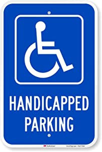 "SmartSign ""Handicapped Parking"" Sign | 12"" x 18"" 3M Engineer Grade Reflective Aluminum"