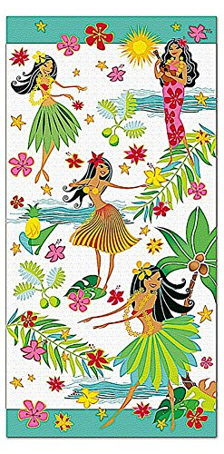 (Hawaiian Island Heritage Cotton Beach Towel Island Hula Honeys)