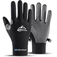 cnBro Gloves Summer Cooling Cycling Touch Screen for Women Men Full Finger Running Fitness Sports Workout Exercise Thin Gloves Breathable Non-Slip Fishing Riding Running Climbing Driving Golf Gloves