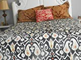 Queen Bedding Ikat Quilts ( Black)