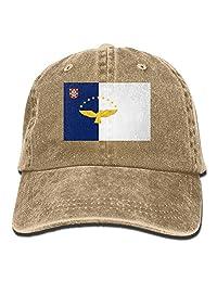 Welonzd Flag of The Azores Denim Hat Baseball Caps Adjustable Plain Cap