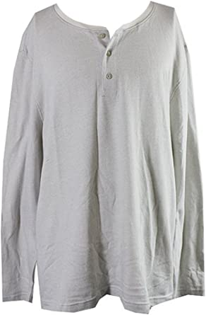 Club Room Mens Herringbone Printed Henley Shirt
