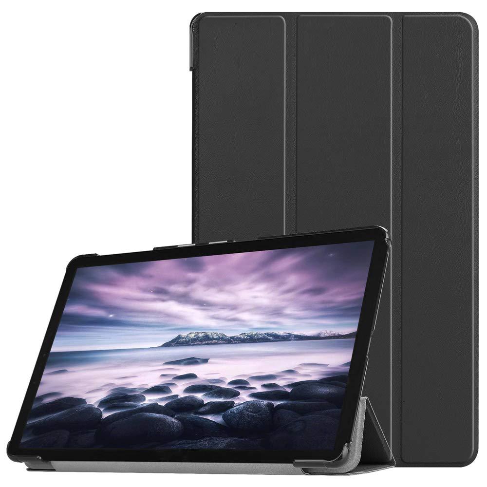 Torubia Samsung Galaxy Tab A 10.5 T595 T590 ケース ラグジュアリー PU レザー ウォレット, ブラック, KQ01-SG-647  ブラック B07LF6R31Z