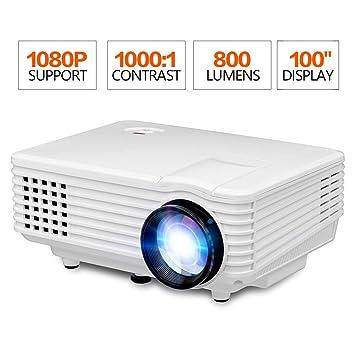 Mini proyector de Video, Pantalla de 100 Pulgadas 1080p Full HD ...