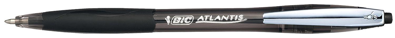 Bic Atlantis Soft Penna a Scatto a Sfera Punta Media 1,0 mm Grip in Gomma e Clip Metallica Blister da 1 Penna Colore Nero