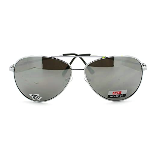 Image Unavailable. Image not available for. Color  Mens Classic Pilot Police  Bike Cop Style Tear Drop Retro Sunglasses Silver Grey 35dad4bf9c