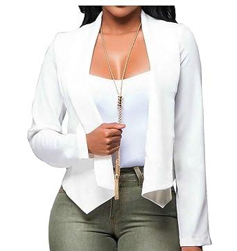HX fashion Cardigan Mujer Elegante Otoño Corto Abrigos Color ...