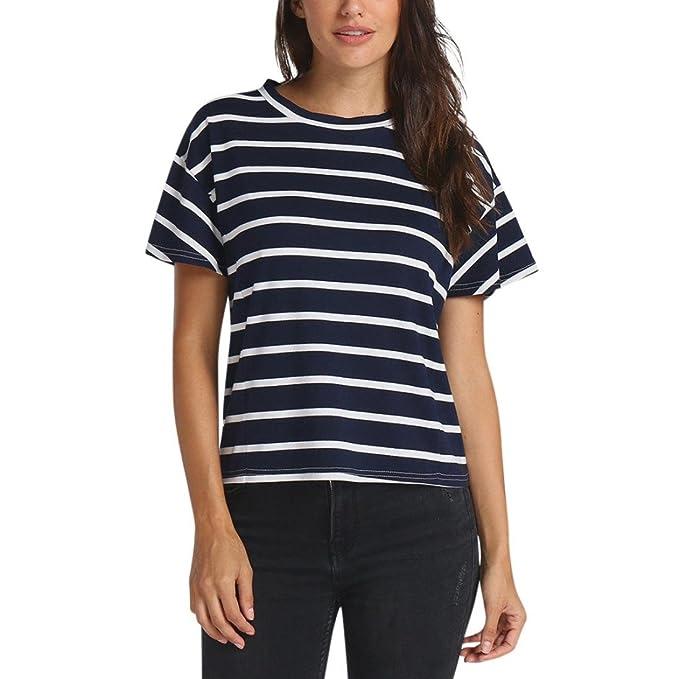 Amazon.com: FINME - Camiseta de manga corta para mujer ...