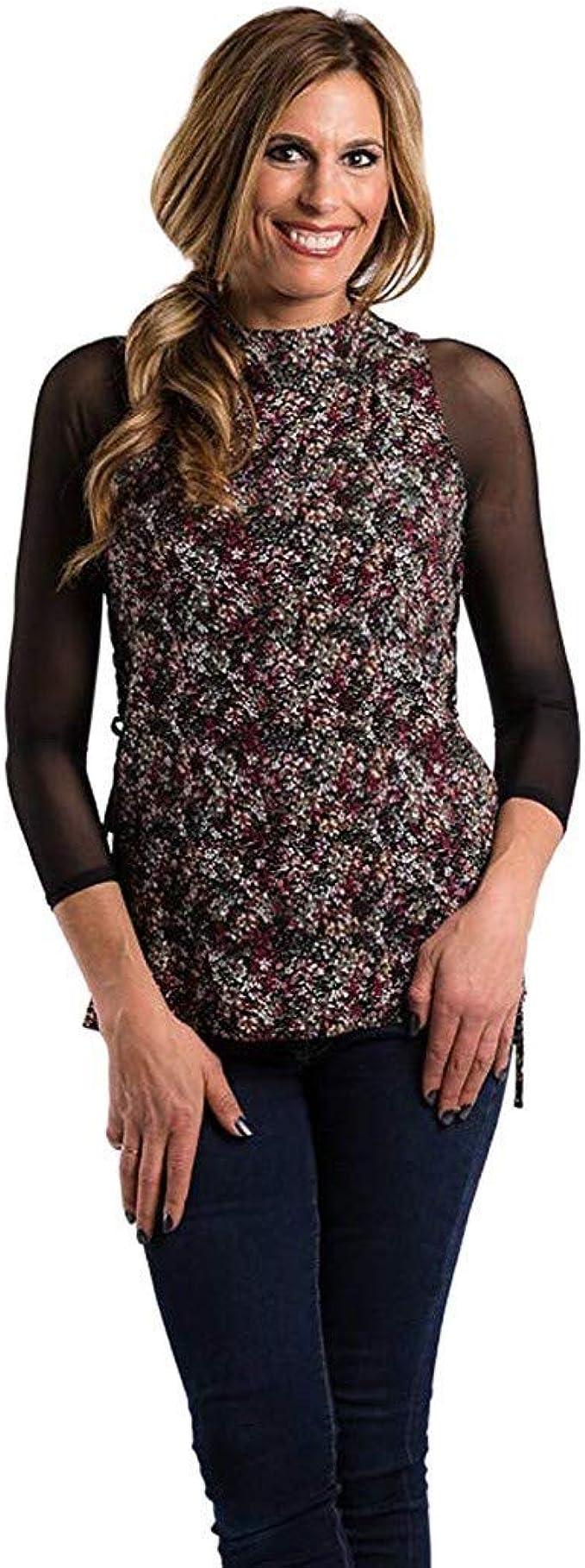 Nouveau Femme sans manches en mousseline de soie Sheer Chemise Gilet Bouton Col Femmes Haut Plus Taille