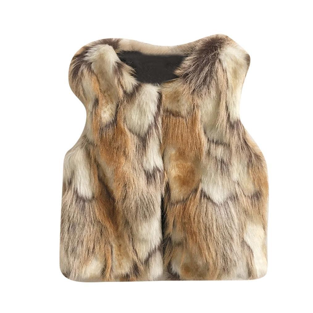 Toddler Kids Winter Waistcoat Clothes 7T Baby Girl Coat Faux Fur Vest Warm Outwear