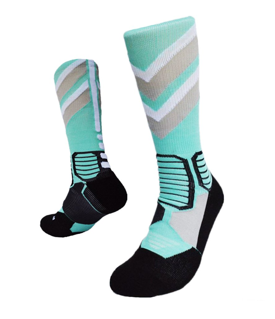 Kalily Cushioned Athletic Crew Socks for All Sports Risen Tech
