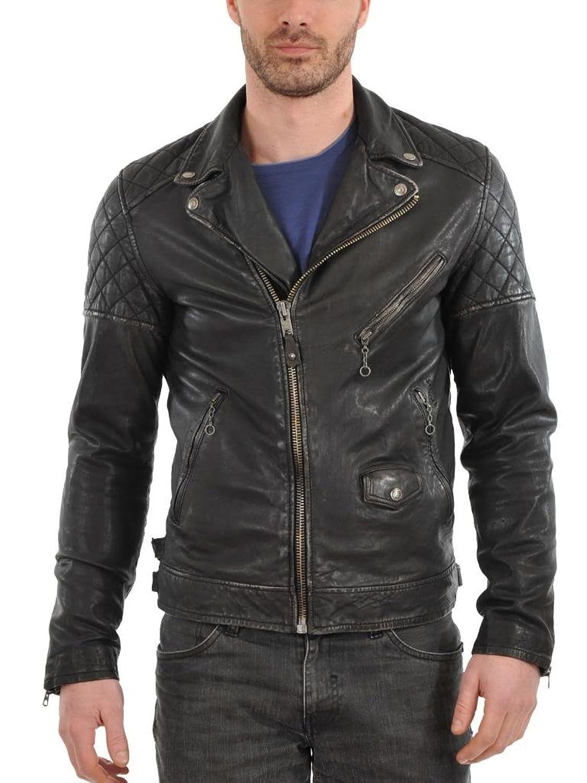 ABDys Men's Lambskin Leather jacket DKC335 Black