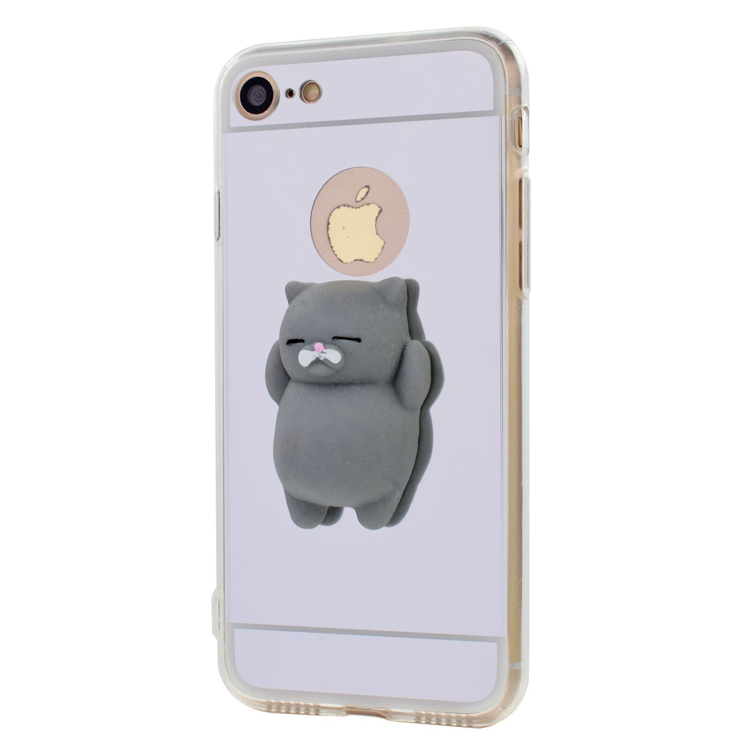 Amazon.com: iPhone SE Case, iPhone 5S / 5 Cases, Jonwelsy Squishy 3D Kawaii Cute Cat Phone Shell Soft Silicon TPU Squeeze Toy Stress Relieve Mirror Back ...