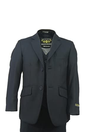 c39b823daf0d Amazon.com: Azzurro Boys Toddlers Formal 3 Pc Checkered Suit - Slim ...