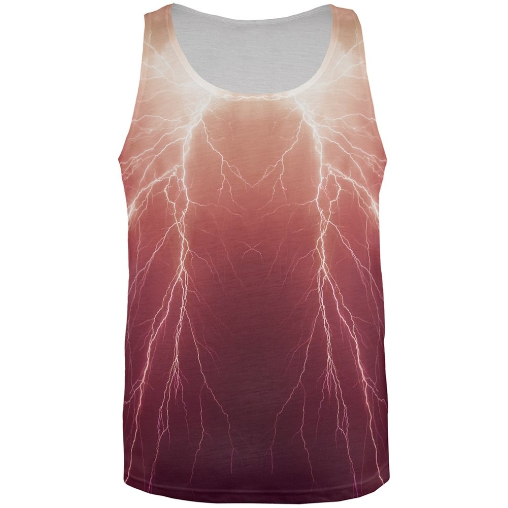 Lightning Bolts All Over Adult Tank Top