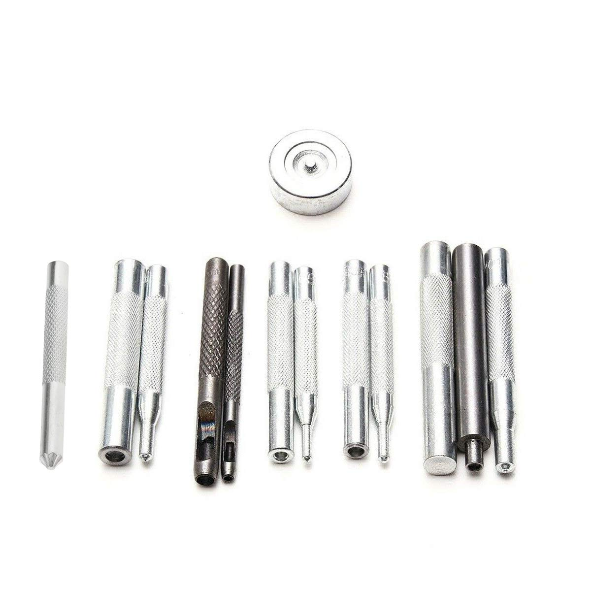 Press Studs Poppers Eyelets Fixing Hand Tool Set Sewing Leather Crafts New