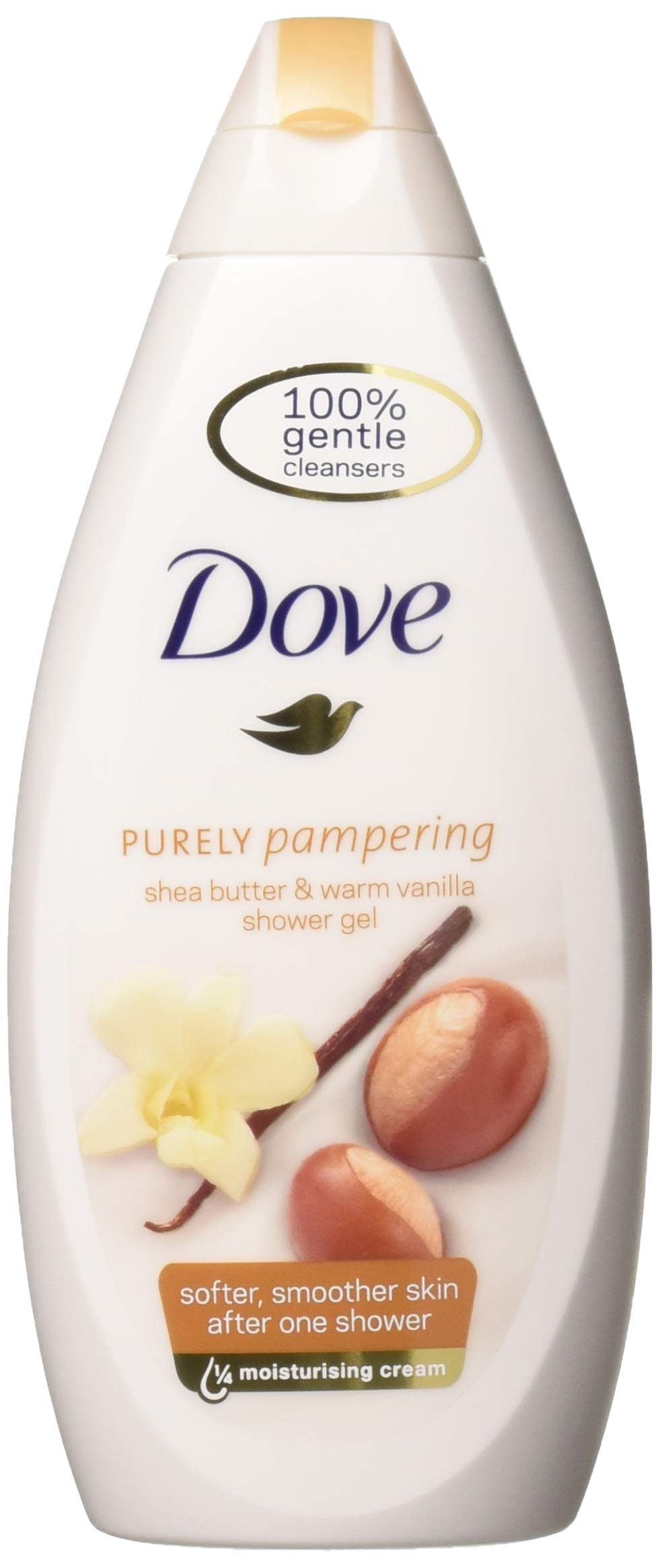 Dove Purely Pampering Body Wash, Shea Butter with Warm Vanilla, 16.9 Ounce / 500 Ml (Pack of 3) International Version