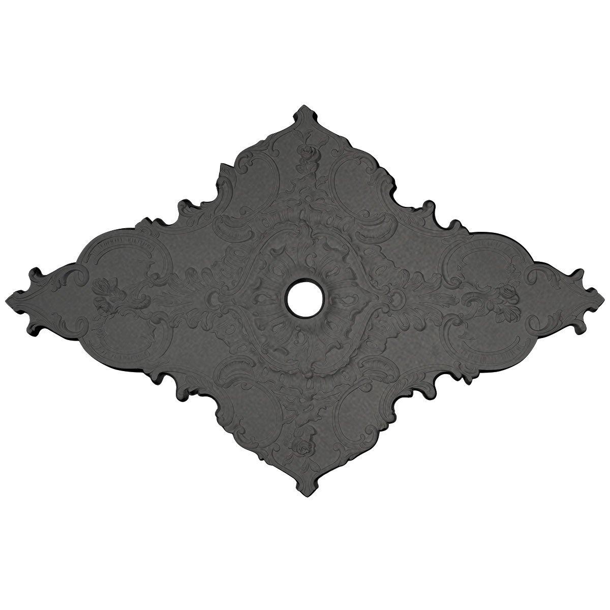 Ekena Millwork CM70X43MLSGS Melchor Diamond Ceiling Medallion, 67-1/4 x 43-3/8 x 4'' x 2'', Steel Gray