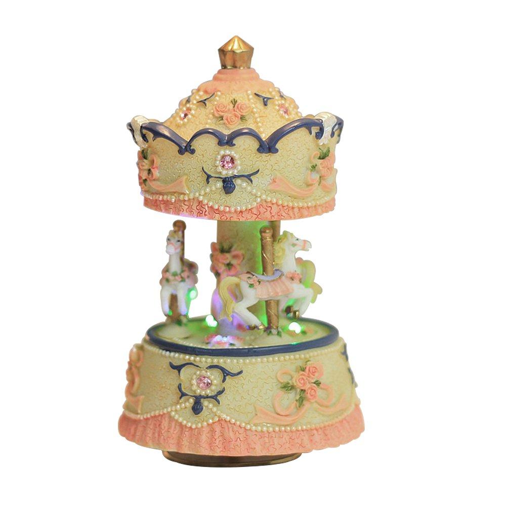 【正規取扱店】 [ラグジュリー]Laxury Clockwork lights Mechanism Clockwork 3horse the Carousel Music Box with LED lights Melody Carrying You from Castle in the Sky MP336+LED [並行輸入品] B01DBDZ46W Multicolor+LED Multicolor+LED, 南勢町:5c397993 --- arcego.dominiotemporario.com