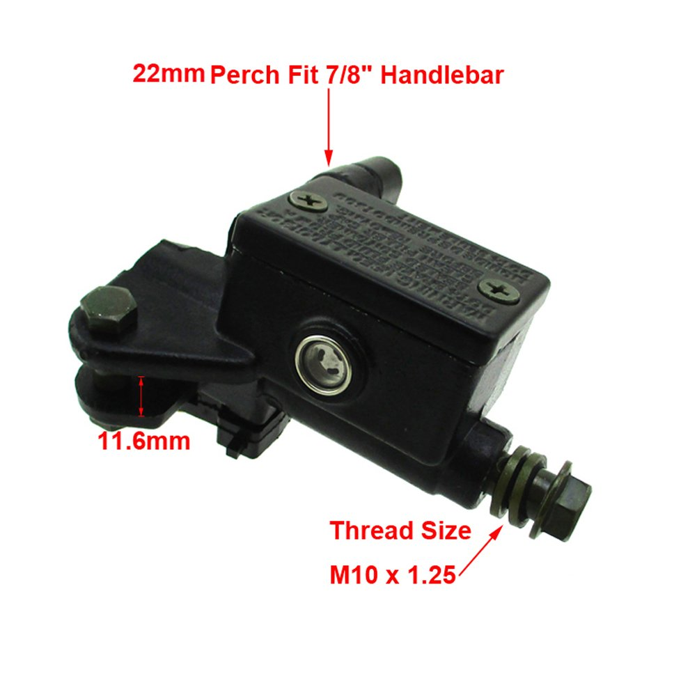 TC-Motor M10x1.25mm Front Right Hydraulic Brake Master Cylinder For Pit Dirt Bike ATV Quad 4 Wheeler Motorcycle