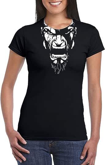 Black Female Gildan Short Sleeve T-Shirt - Kratos – neck design design