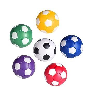LIOOBO 6 Unids Balones de Fútbol de Futbolín de Mesa Mini Juego de ...