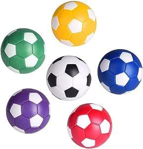 LIOOBO 6 Pcs 36mm Futbolines Plástico Mesa Mini Pelotas de fútbol, futbolín balones para niños y Adultos Fiesta cumpleaños favores Bolsas Fiesta Juego de Juguete - Color: Amazon.es: Deportes y aire libre