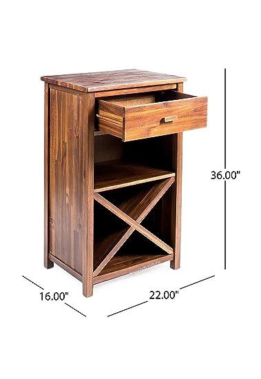 MP WOOD Furniture Sheesham Wood Bar Cabinet Bar Furniture Wine Home Bar Cabinet