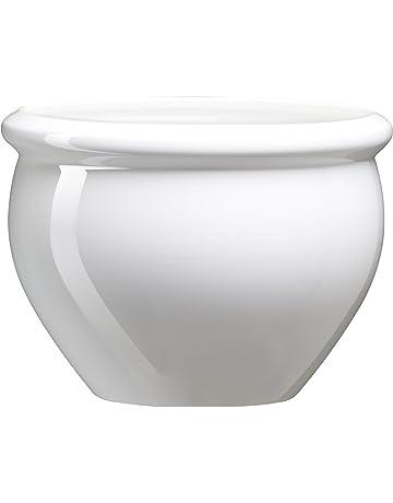 Emsa 512668 Siena Nobile - Maceta con aspecto de cerámica vidriada, Material de plástico,
