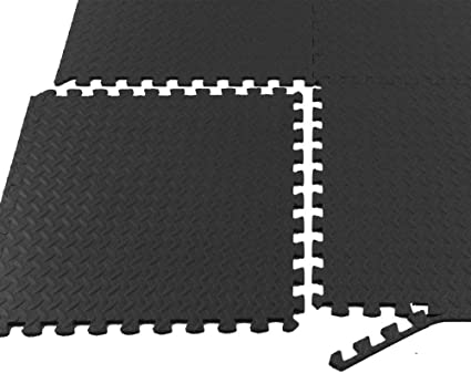 120 sqft black interlocking foam floor puzzle tiles mat exercise gym flooring