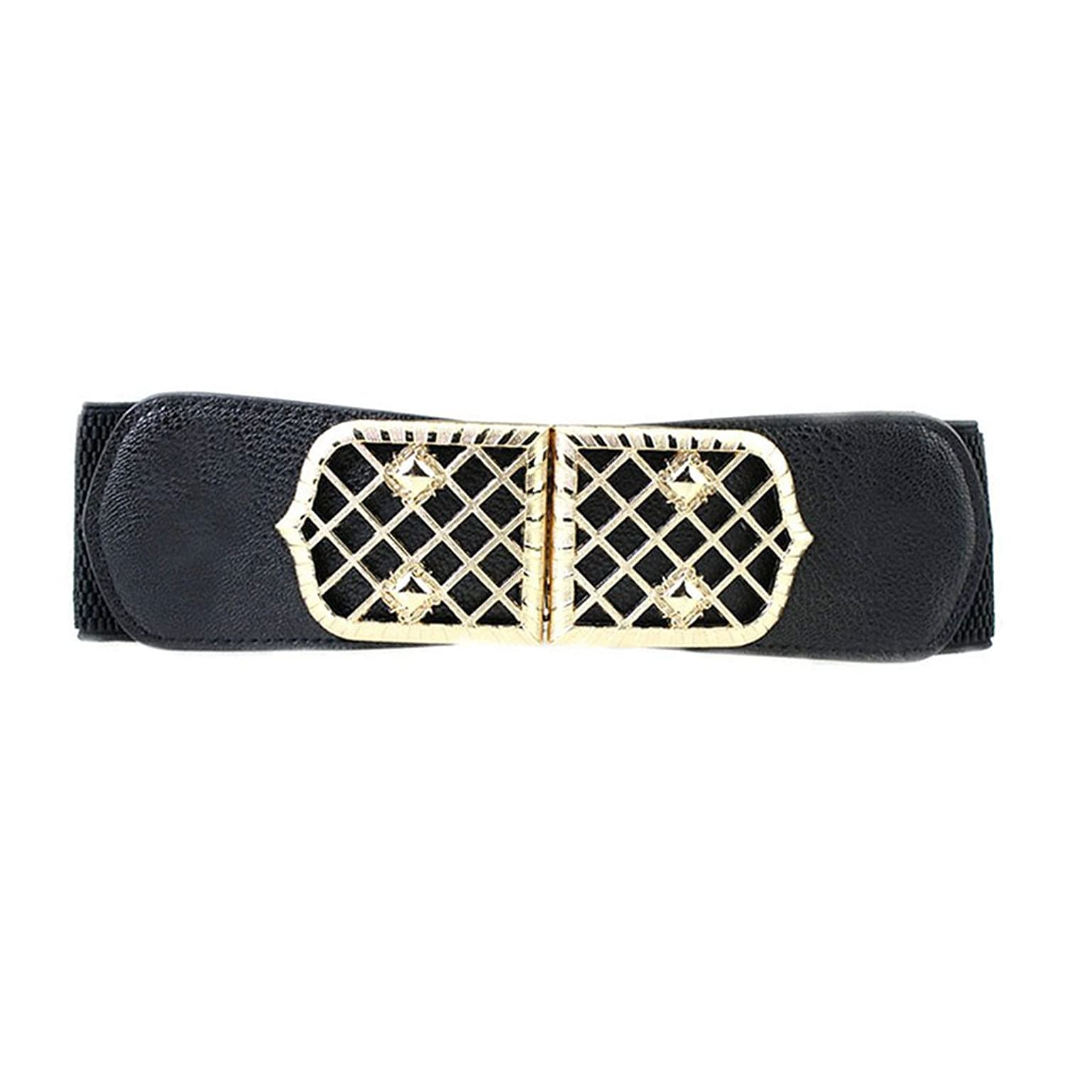 Sitong women's fashion rivets buckle wide elastic girdle
