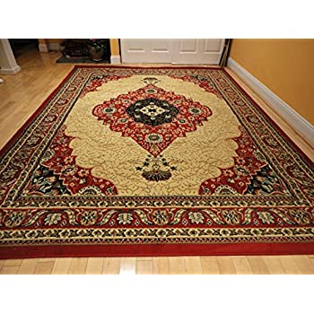 Amazon Com Large Traditional Area Rugs 5x8 Red Persian Rugs Living