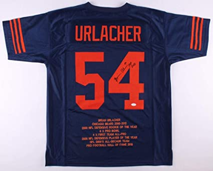 e98b1081290 Image Unavailable. Image not available for. Color  Autographed Brian  Urlacher Jersey ...