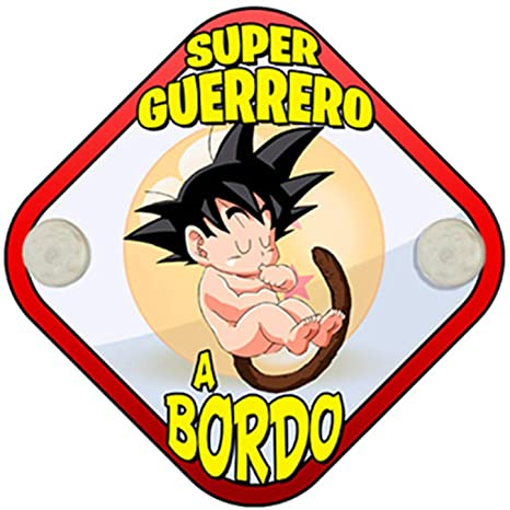 Placa bebé a bordo para fans de Goku peque Super Guerrero a bordo